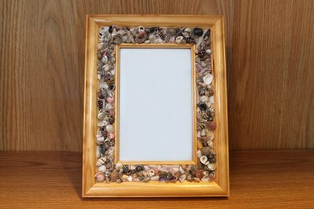 Beach Decor: Photo Frame, Shell Inlay Picture Frame, Picture Frame, Beach Wedding Picture Frame, Beach Decor Picture Frame