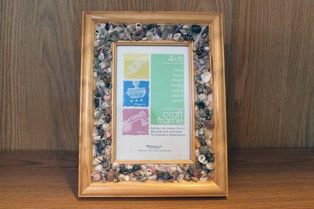 Shell Inlay Wood Frame
