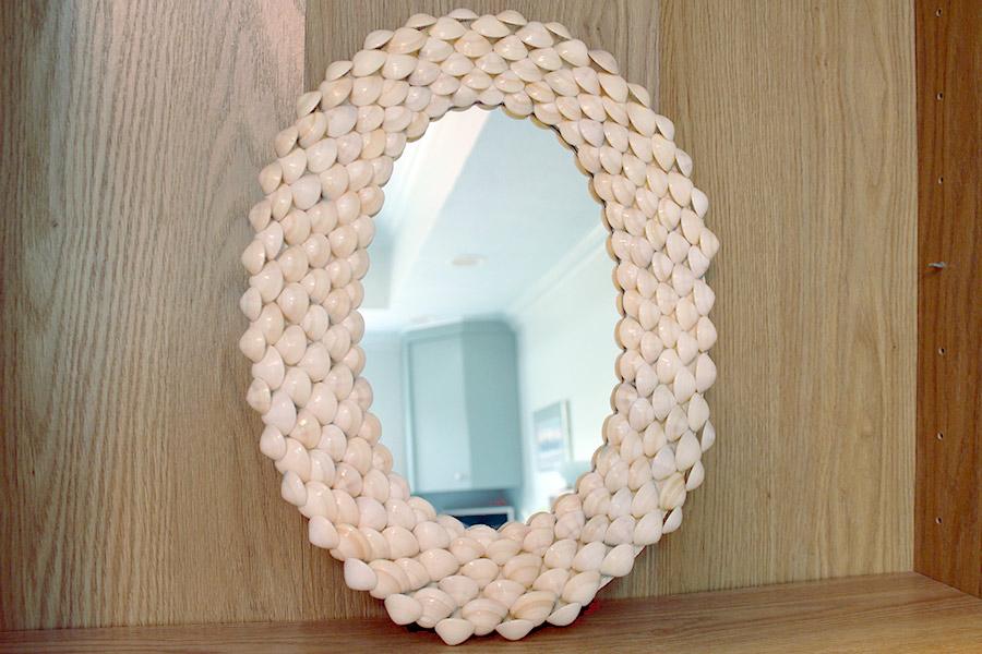 Oval Shell Mirror Kaleidoscope Baby