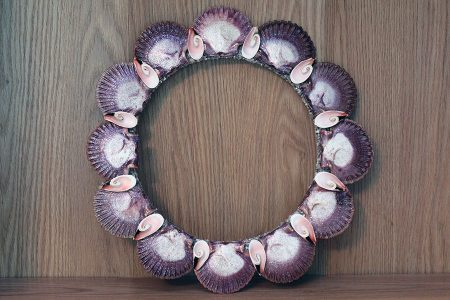 Beach Decor: Beach Decor Wreath, Summer Wreath, Front Door Wreath, Wedding Gift Wreath, Shell Wreath, Seashell Wreath, Scallop Shell Wreath