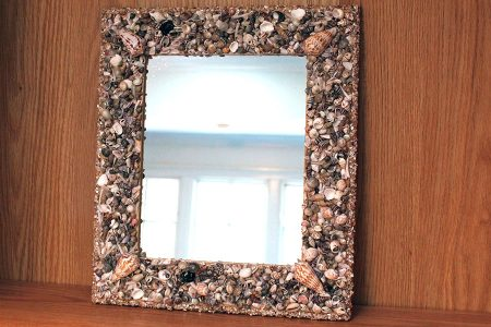 Shell Framed Mirror
