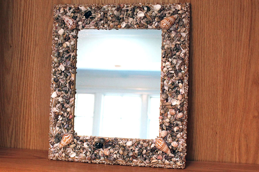 Shell Framed Mirror Kaleidoscope Baby