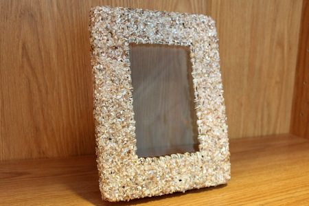 Beach Decor: Small Shell Picture Frame, Photo Frame, Picture Frame, Shell Photo Frame, Beach Wedding Photo Frame, Beach Decor Picture Frame