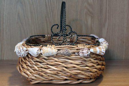 Shell Rimmed Woven Basket