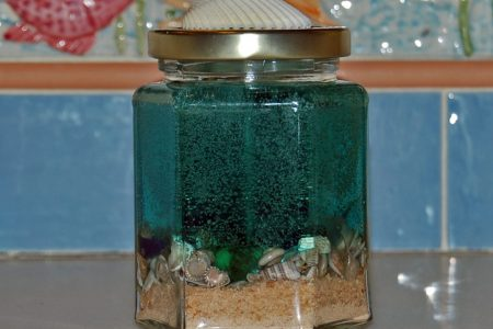 Tahitian Teal Hexagonal Scented Candle